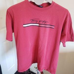 Tommy Jeans vintage red tee shirt men's L